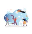 winter season fun concept for web banner vector image