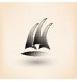 Yacht club logo Halftone stylized vector image