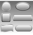 Silver buttons vector image