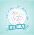 23 july dolphin day vector image