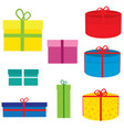 a set of boxes for gifts for birthday new year vector image