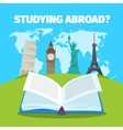 Abroad studying foreign languages concept vector image vector image