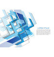 abstract blue arrow direction geometric on white vector image vector image