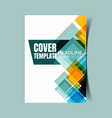 abstract report cover 18 vector image vector image