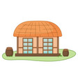 asian village old house vector image