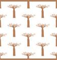 baobab tree seamless pattern vector image