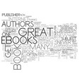 benefits of e books text word cloud concept vector image vector image