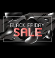 black friday sale banner design liquid effect vector image vector image