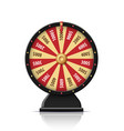 black wheel of fortune 3d object isolated on white vector image vector image