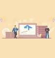 business partner and saas platform flexibility vector image vector image