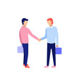 business people handshake concept of business vector image vector image