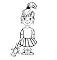 Cartoon girl vector image vector image