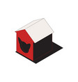 cat house icon vector image vector image