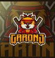 cat mascot esport logo template vector image vector image
