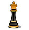 chess piece black queen isolated on white vector image