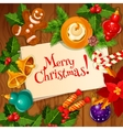 Christmas Day and New Year greeting card design vector image vector image