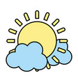 color light sun spring weather with clouds vector image vector image