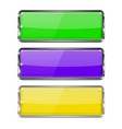 colored rectangle buttons green violet and vector image vector image