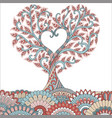 colorful love tree vector image
