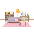 comfy interior of living room full of soviet vector image vector image