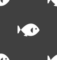 fish icon sign Seamless pattern on a gray vector image vector image