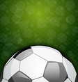 Football card with place for your text vector image vector image