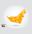 geometric polygonal style map of united arab vector image vector image