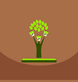 go green eco tree recycling concept on organic vector image vector image