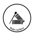 Hair curlers icon vector image vector image