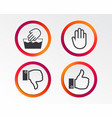 hand icons like and dislike thumb up symbols vector image