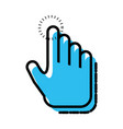 hand touching isolated icon vector image