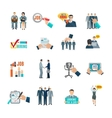Hire Flat Icons Set vector image vector image