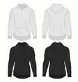 hoody fashion sweatshirt template realistic vector image vector image
