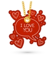 I love you text and hearts vector image