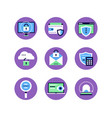 information security data protection - set of vector image vector image
