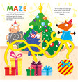 kid logic maze game puzzle new year printable vector image vector image
