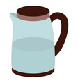 kitchen electric kettle or glass jug with lid vector image