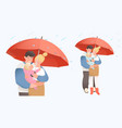 little cute bakid bonding young family vector image