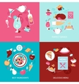 Menu restaurant set vector image