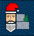 merry christmas card design with santa claus vector image vector image