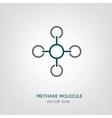 Methane Molecule Icon vector image vector image