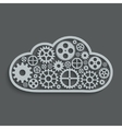 modern mechanism computing cloud concept vector image vector image