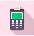 payment bank terminal paper icon flat style vector image vector image