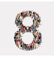 people form number eight vector image vector image