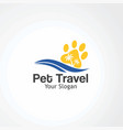 pet travel logo icon element and template for vector image