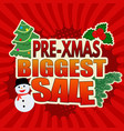 pre-xmas biggest sale banner design vector image