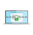Protection against hacker concept vector image vector image