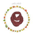 scarf hand draw accessories autumn collection vector image vector image
