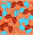 seamless pattern with winter mittens graphics vector image vector image