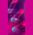 square brochure design magenta red corporate vector image vector image